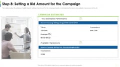 Social Platform As Profession Step 8 Setting A Bid Amount For The Campaign Ppt Icon Inspiration PDF