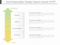 Social Responsibility Strategy Diagram Example Of Ppt