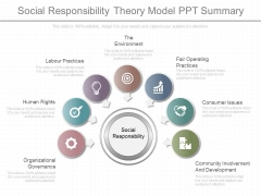 Social Responsibility Theory Model Ppt Summary