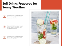 Soft Drinks Prepared For Sunny Weather Ppt PowerPoint Presentation Icon Graphics PDF