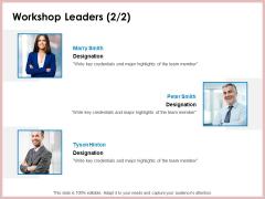 Soft Skill And Personal Development Workshop Leaders Team Ppt Icon Skills PDF