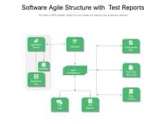 Software Agile Structure With Test Reports Ppt Powerpoint Presentation Outline Visual Aids Pdf