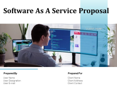 Software As A Service Proposal Ppt PowerPoint Presentation Complete Deck With Slides