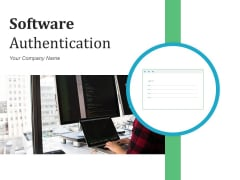 Software Authentication Cloud Icon Flowchart Ppt PowerPoint Presentation Complete Deck