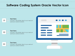 Software Coding System Oracle Vector Icon Ppt PowerPoint Presentation File Aids PDF