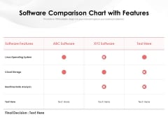 Software Comparison Chart With Features Ppt PowerPoint Presentation Icon Slide Download