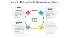 Software Delivery Plan For Organization With Icons Ppt PowerPoint Presentation File Information PDF