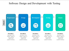 Software Design And Development With Testing Ppt PowerPoint Presentation Gallery Layout PDF