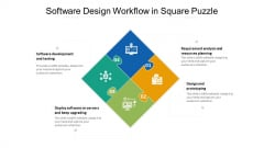 Software Design Workflow In Square Puzzle Ppt PowerPoint Presentation Icon Infographic Template PDF