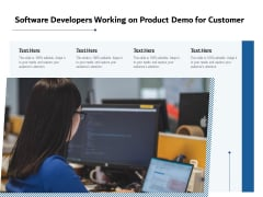 Software Developers Working On Product Demo For Customer Ppt PowerPoint Presentation Gallery Templates PDF