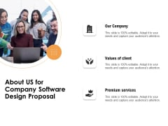 Software Development About Us For Company Software Design Proposal Ppt Styles Background Designs PDF