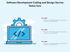 Software Development Coding And Design Service Vector Icon Ppt PowerPoint Presentation Icon Model PDF