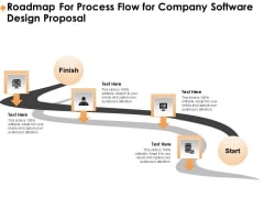 Software Development Roadmap For Process Flow For Company Software Design Proposal Microsoft PDF