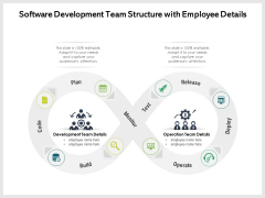 Software Development Team Structure With Employee Details Ppt PowerPoint Presentation Gallery Vector PDF