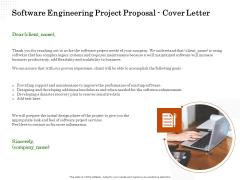 Software Engineering Project Proposal Cover Letter Ppt Portfolio Outline PDF
