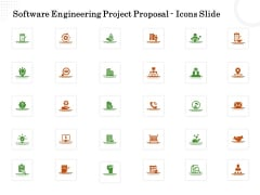 Software Engineering Project Proposal Icons Slide Ppt Layouts Graphics Design PDF