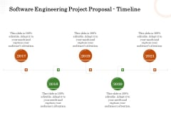 Software Engineering Project Proposal Timeline Ppt Infographic Template Backgrounds PDF