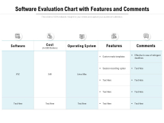 Software Evaluation Chart With Features And Comments Ppt PowerPoint Presentation Ideas Microsoft