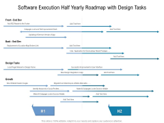 Software Execution Half Yearly Roadmap With Design Tasks Pictures