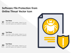 Software File Protection From Online Threat Vector Icon Ppt PowerPoint Presentation Show Visuals PDF