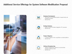 Software Maintenance Additional Service Offerings For System Software Modification Proposal Microsoft PDF