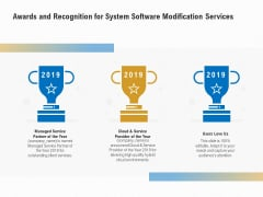 Software Maintenance Awards And Recognition For System Software Modification Services Information PDF