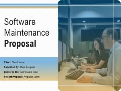 Software Maintenance Proposal Ppt PowerPoint Presentation Complete Deck With Slides