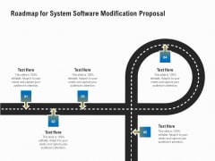 Software Maintenance Roadmap For System Software Modification Proposal Ppt PowerPoint Presentation Ideas Gallery PDF