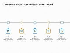 Software Maintenance Timeline For System Software Modification Proposal Ppt PowerPoint Presentation Infographics PDF