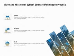 Software Maintenance Vision And Mission For System Software Modification Proposal Ppt PowerPoint Presentation Ideas Visuals PDF