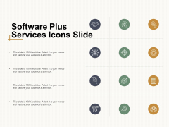 Software Plus Services Icons Slide Ppt Powerpoint Presentation Summary Picture