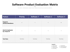 Software Product Evaluation Matrix Ppt PowerPoint Presentation Gallery Outline