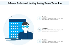 Software Professional Handling Hosting Server Vector Icon Ppt PowerPoint Presentation File Graphics PDF