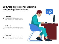 Software Professional Working On Coding Vector Icon Ppt PowerPoint Presentation File Background PDF
