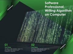 Software Professional Writing Algorithm On Computer Ppt PowerPoint Presentation File Influencers PDF