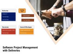Software Project Management With Deliveries Ppt PowerPoint Presentation Slides Outline PDF