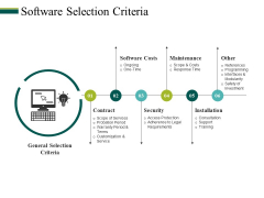 Software Selection Criteria Ppt PowerPoint Presentation Inspiration Example