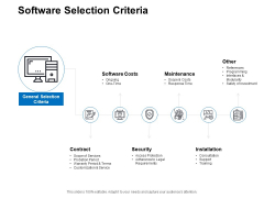 Software Selection Criteria Ppt PowerPoint Presentation Pictures Gallery