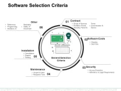 Software Selection Criteria Template 1 Ppt PowerPoint Presentation Gallery Slide