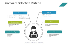 Software Selection Criteria Template 2 Ppt PowerPoint Presentation Layouts Graphics Tutorials