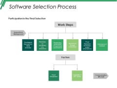 Software Selection Process Ppt PowerPoint Presentation Background Images