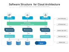 Software Structure For Cloud Architecture Ppt PowerPoint Presentation Pictures Samples PDF