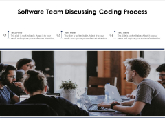Software Team Discussing Coding Process Ppt PowerPoint Presentation File Graphics Example PDF