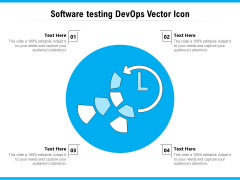 Software Testing Devops Vector Icon Ppt PowerPoint Presentation Infographic Template Background Designs PDF