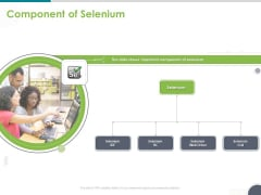 Software Testing Framework For Learners Component Of Selenium Ppt PowerPoint Presentation Portfolio Graphics PDF