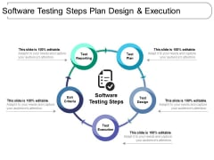 Software Testing Steps Plan Design And Execution Ppt PowerPoint Presentation File Topics