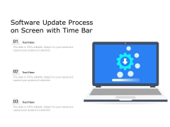 Software Update Process On Screen With Time Bar Ppt PowerPoint Presentation Infographics PDF