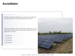 Solar Panel Maintenance Accreditation Ppt Template PDF