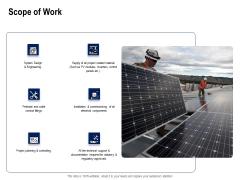 Solar Panel Maintenance Scope Of Work Ppt Professional Design Templates PDF