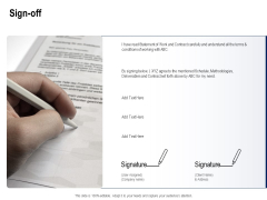 Solar Panel Maintenance Sign Off Ppt Infographics Visuals PDF